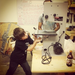 10-year-old Jake assembles a band saw without pause the minute it's pulled out of the box. You know, like he's making a sandwich or something.