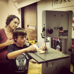 After a brief safety lesson from Kami, Jake goes to town.