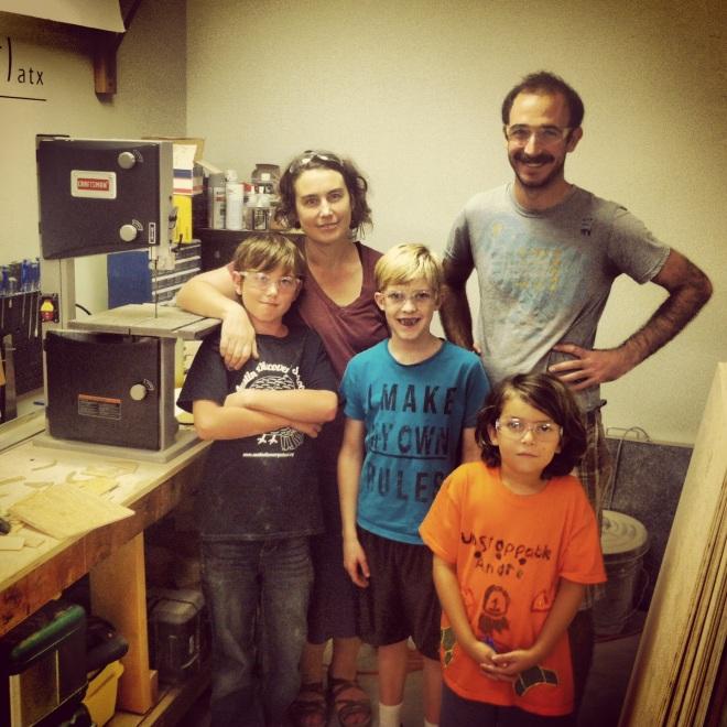 Today's crew at the school. L to R: Jack, Kami, XXX, Oren, XXX