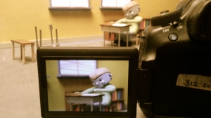 On the set!