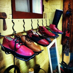 Shoes! Custom -fit and handmade in the workshop.