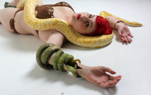 In case there was any doubt about whether prostheses could be sexy. Jo-Jo Cranfield wearing the snake arm created by Sophie de Oliveira. Please check out the Alternative Limb Project when you have a few minutes.