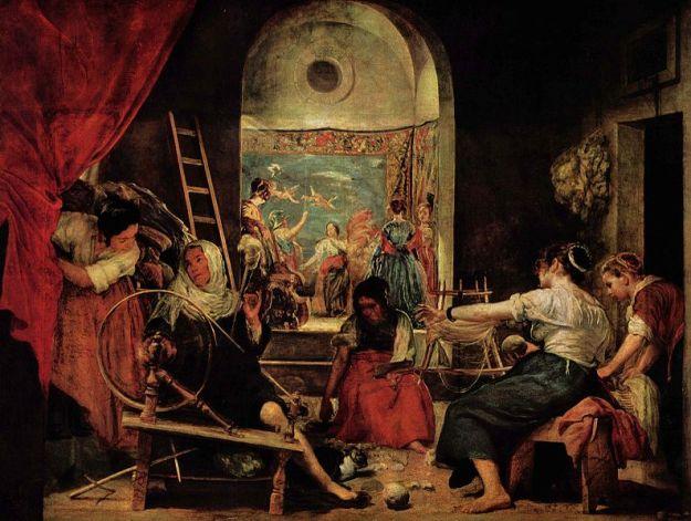 Die Spinnerinnen by Diego Velazquez. 1640s.