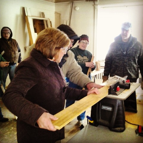Local residents learn the basics of power tools through a Restore Michiana workshop. Empowering people to fix up their homes and neighborhoods is a slick and useful way to help save your city.