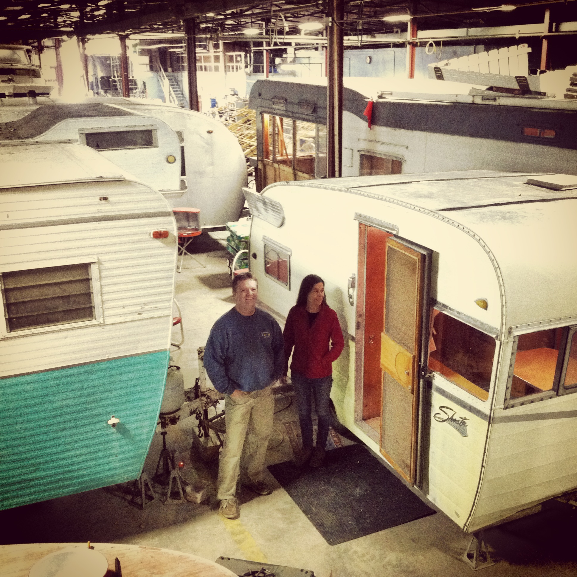 Christie Webber And Shawn Fairchild Are Collecting Restoring Vintage Trailers In Their Spare Time