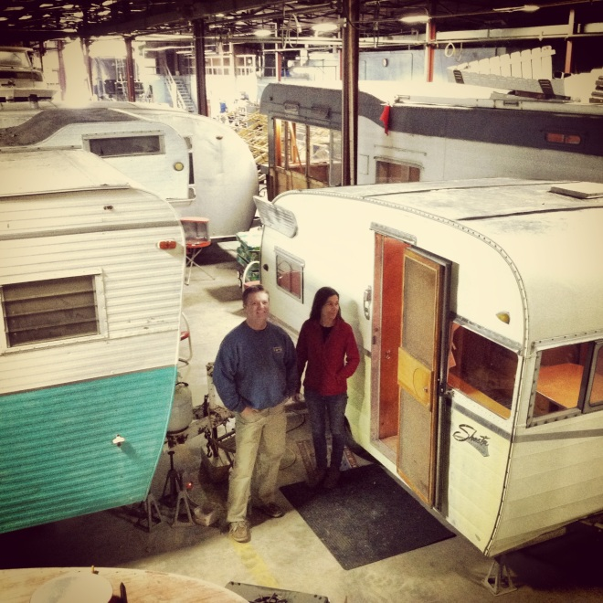 Christie Webber and Shawn Fairchild are collecting and restoring vintage trailers in their spare time.