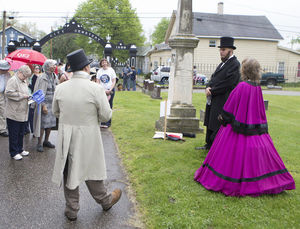 Re-enactors portray local historical figures at a May event. (Photo by the South Bend Tribune)
